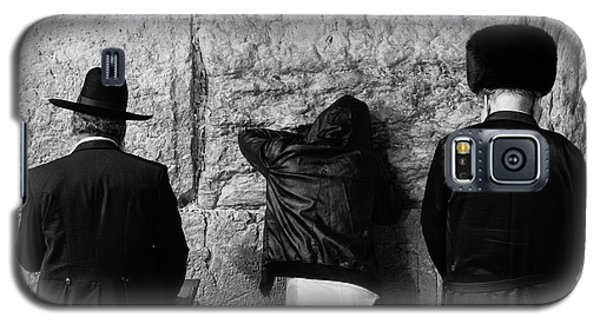 Galaxy S5 Case featuring the photograph Three Different Selichot Prayers At The Kotel by Yoel Koskas