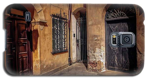 Three Doors In Warsaw Galaxy S5 Case by Carol Japp