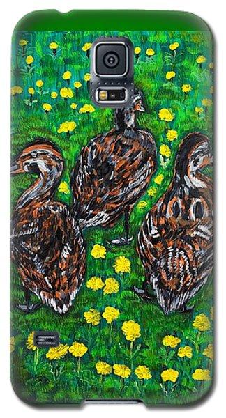 Three Ducklings Galaxy S5 Case by Valerie Ornstein