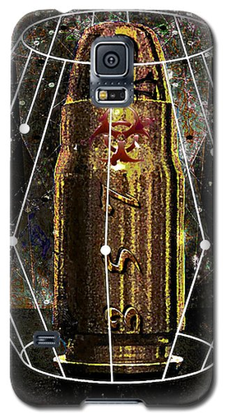 Galaxy S5 Case featuring the digital art Three Fifty Seven Sig by Iowan Stone-Flowers