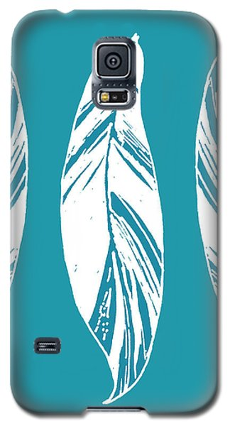 Three Ginger Leaves - Teal Galaxy S5 Case