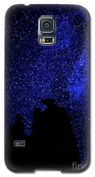 Galaxy S5 Case featuring the photograph Three Gossips And The Milky Way - Arches National Park by Gary Whitton