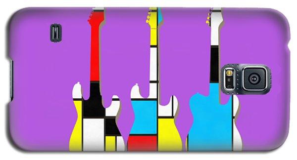 Guitar Galaxy S5 Case - Three Guitars Modern Tee by Edward Fielding