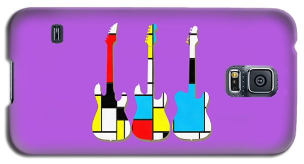Three Guitars Modern Tee Galaxy S5 Case by Edward Fielding