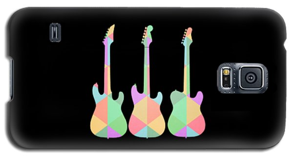 Three Guitars Triangles Tee Galaxy S5 Case by Edward Fielding