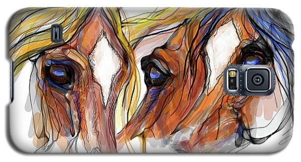 Three Horses Talking Galaxy S5 Case by Stacey Mayer
