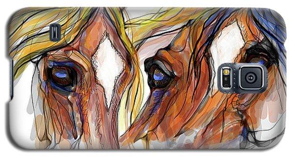 Three Horses Talking Galaxy S5 Case