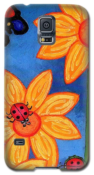 Three Ladybugs And Butterfly Galaxy S5 Case