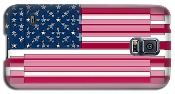 Three Layered Flag Galaxy S5 Case by David Bridburg