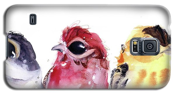 Galaxy S5 Case featuring the painting Three Little Birds by Dawn Derman