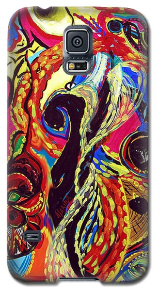 Galaxy S5 Case featuring the painting Angel And Dragon by Marina Petro