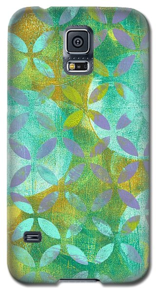 Galaxy S5 Case featuring the mixed media Three Moons Rising by Lisa Noneman