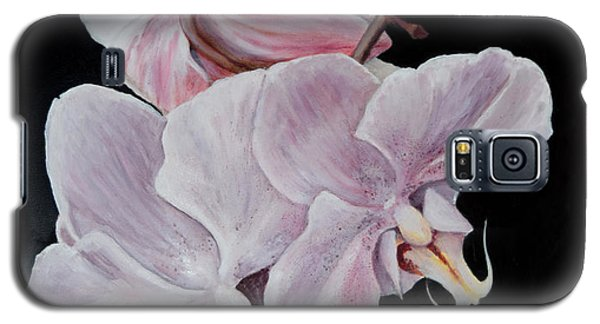 Galaxy S5 Case featuring the painting Three Orchids by Sandra Nardone