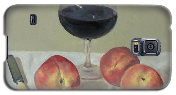 Three Peaches, Wine And Knife Galaxy S5 Case