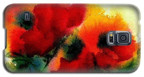 Three Poppies Galaxy S5 Case by Anne Duke
