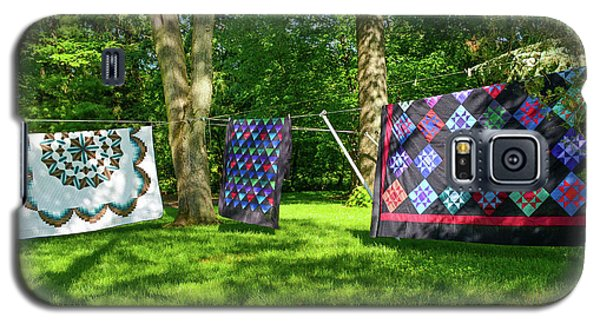 Three Quilts In The Breeze Galaxy S5 Case