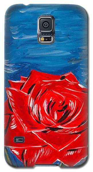 Three Red Roses Four Leaves Galaxy S5 Case by Valerie Ornstein