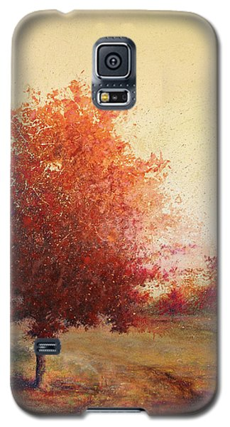 Three Red Trees Galaxy S5 Case by Andrew King