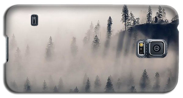 Three Ridges Fog Galaxy S5 Case by Jerry Sodorff