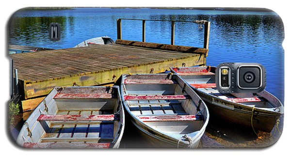 Three Rowboats Galaxy S5 Case by David Patterson