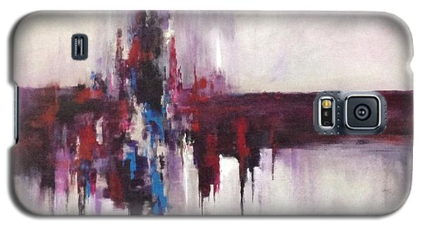 Galaxy S5 Case featuring the painting Three Square #2 by Suzzanna Frank
