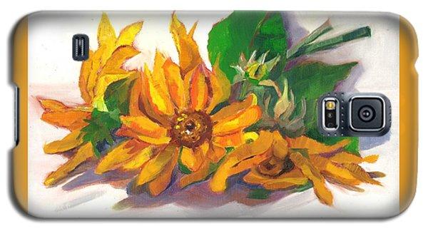 Three Sunflowers Galaxy S5 Case by Susan Thomas