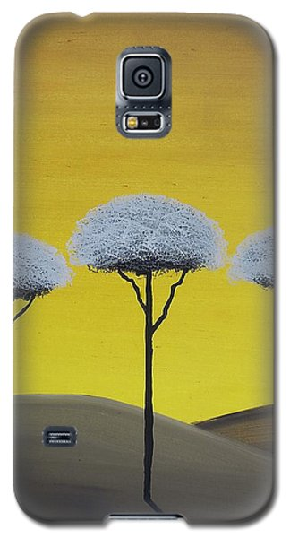 Galaxy S5 Case featuring the painting Three Trees  by Edwin Alverio