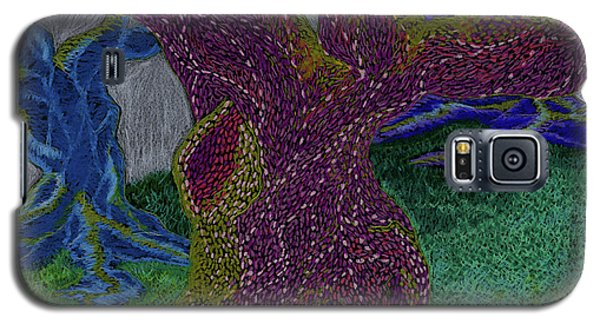 Galaxy S5 Case featuring the drawing Three Trees by Kim Sy Ok