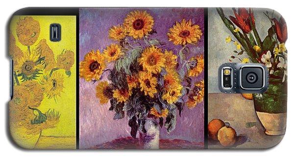 Three Vases Van Gogh - Cezanne Galaxy S5 Case by David Bridburg