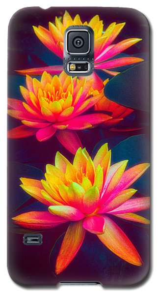 Galaxy S5 Case featuring the photograph Three Waterlilies by Chris Lord