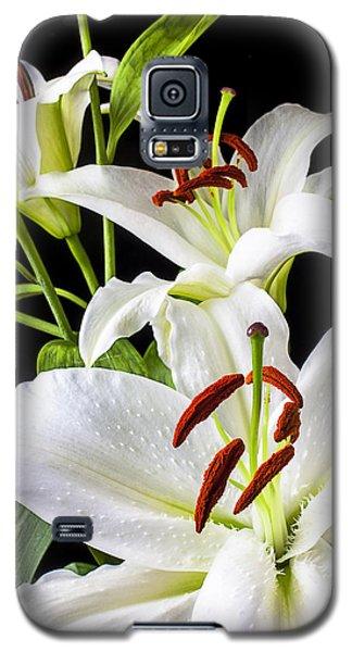 Three White Lilies Galaxy S5 Case