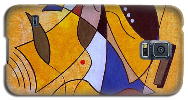 Abstract Galaxy S5 Cases - Three White Petals Galaxy S5 Case by Ruth Palmer