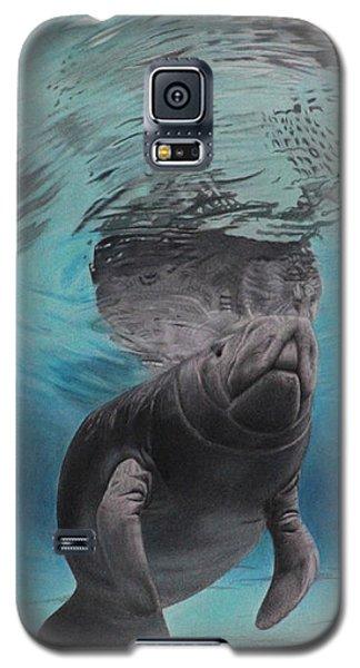 Galaxy S5 Case featuring the painting Three Worlds II by Jennifer Watson
