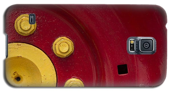 Three Yellow Nuts On A Red Wheel Galaxy S5 Case