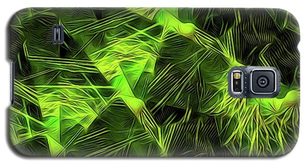 Galaxy S5 Case featuring the digital art Threshed Green by Ron Bissett