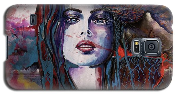 Galaxy S5 Case featuring the painting Through My Mind by Geni Gorani