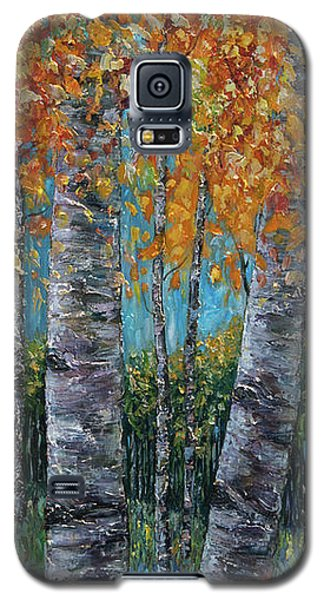 Through The Aspen Trees Diptych 1 Galaxy S5 Case