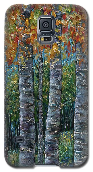 Through The Aspen Trees Diptych 2 Galaxy S5 Case