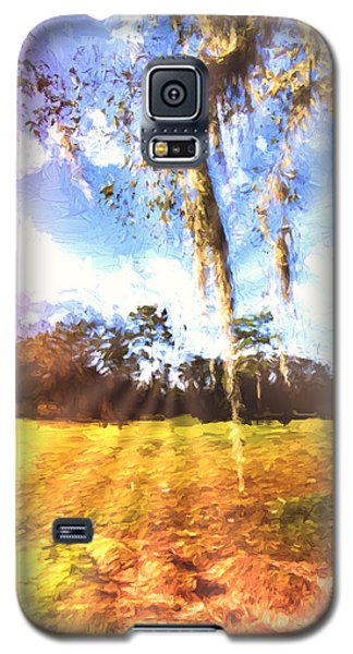 Galaxy S5 Case featuring the painting Through The Moss by Annette Berglund
