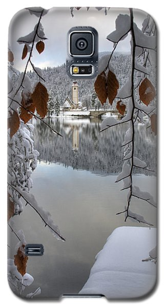Galaxy S5 Case featuring the photograph Through The Snow Trees by Ian Middleton
