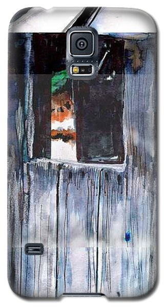 Galaxy S5 Case featuring the drawing Thru The Barn Window by Seth Weaver