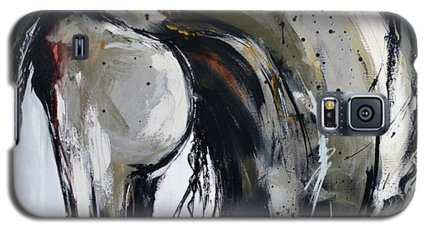 Galaxy S5 Case featuring the painting Thunder And Lightning by Cher Devereaux