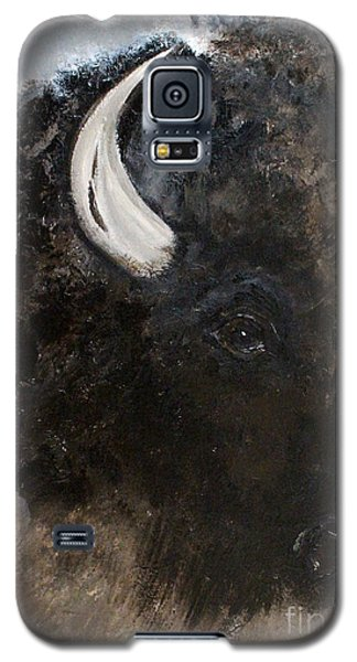 Galaxy S5 Case featuring the painting Thunder Medicine Cloud by Barbie Batson