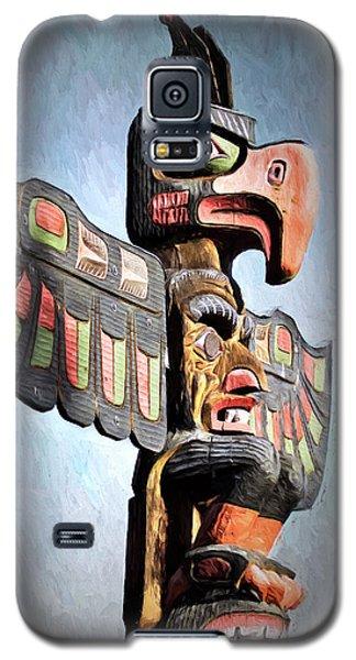Thunderbird Totem Pole - Thunderbird Park, Victoria, British Columbia Galaxy S5 Case