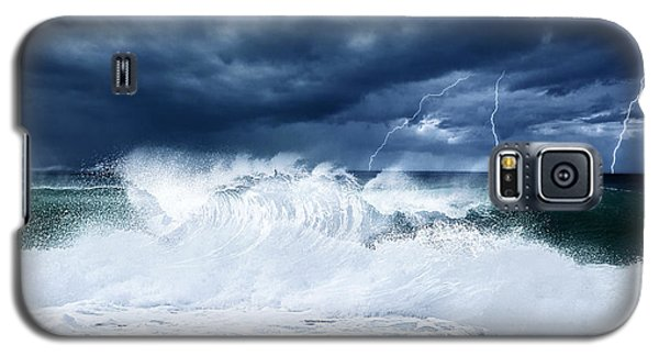Thunderstorm And Lightning On The Beach Galaxy S5 Case