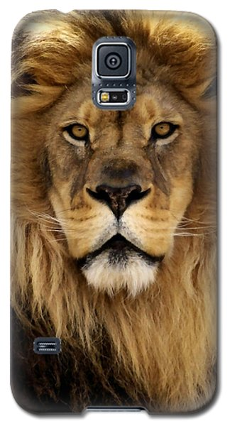 Lion Galaxy S5 Case - Thy Kingdom Come by Linda Mishler