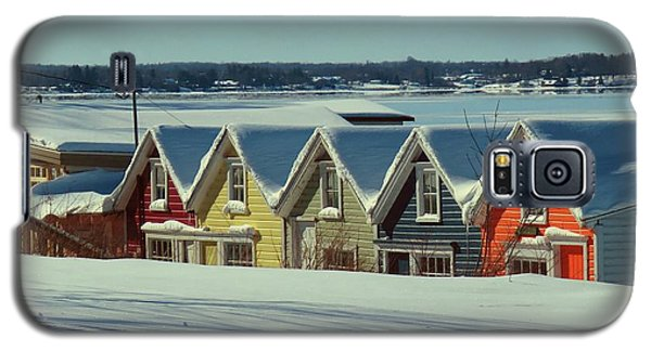 Winter View Ti Park Boathouses Galaxy S5 Case