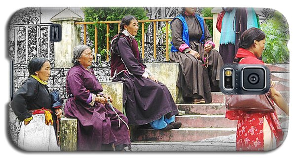 Tibetan Women Waiting Galaxy S5 Case