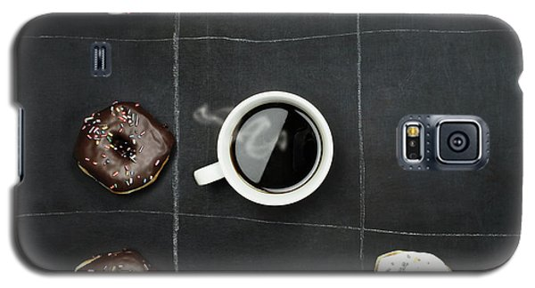 Galaxy S5 Case featuring the photograph Tic Tac Toe Donuts And Coffee by Stephanie Frey
