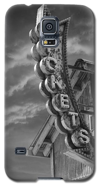 Galaxy S5 Case featuring the photograph Tickets Bw by Laura Fasulo